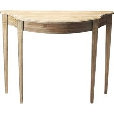 Abigail Demilune Console, Natural - Console Tables - Consoles & Center Tables - Entry - Furniture One Kings Lane , Entry Furniture, Accent Furniture, Furniture Deals, Online Furniture, Console Furniture, One Kings Lane, Consoles, Center Table, Contemporary Interior
