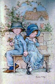 Sarah Key, Holly Hobbie, Valentines Art, Sweet Pic, Picture Postcards, Painted Books, Arte Popular, Vintage Pictures, Comic Pictures
