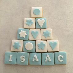 New Baby Personalised Biscuit Blocks