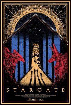 Poster alternativo de la película #Stargate creado por Kilian Eng via @SKUZZLESCAN y @411posters . @Brent Hedlund
