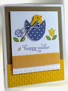 Me, My Stamps and I: Consider It Cased Stamps: Bright Blossoms, Delightful Dozen Paper: Daffodil Delight, Crumb Cake, DSP, Whisper White Ink:  Pear Pizzazz, Wisteria Wonder, Daffodil Delight Accessories: baker's twine, pearl, chevron ribbon Tools:  Needlepoint Border EF, Square Lattice EF, Big Shot, Dimensionals  Stampin' Up!