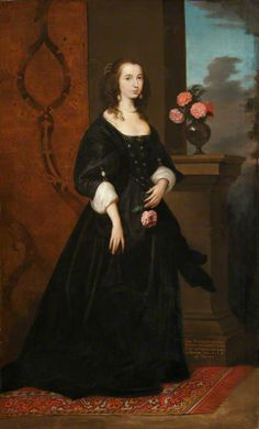 Possibly Lady Isabella Sackville (1622–1661), Countess of Northampton   by Anthony van Dyck(follower of)