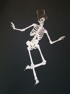 The Dancing Skeleton-DIY Jointed paper skeleton decoration  I care less about the craft/decoration and more about the tattoo potential/inspiration