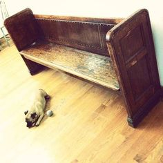 Vintage church bench- perfect for entryway