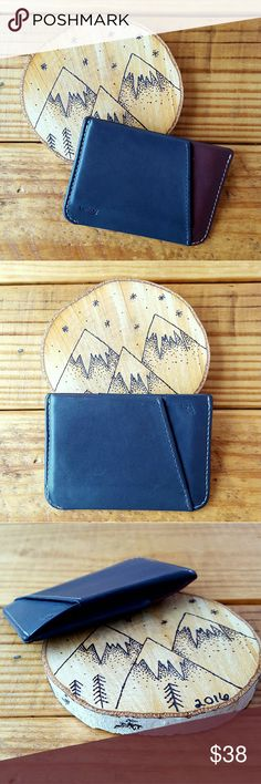 BELLROY WALLET *gray and brown wallet *great condition with plenty of life left *3 slots (one on each side and a center slot) *perfect wallet for a few cards and some cash *comes from a smoke-FREE & pet-FREE home Bellroy Bags Wallets