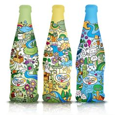 fun illustrations on this #bottle #packaging PD