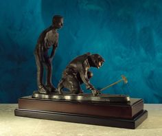 Charming Doubles At The Ninth  Golf Sculpture. Available At AllSculptures.com