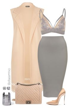 """""""Untitled #1120"""" by efiaeemnxo ❤ liked on Polyvore featuring River Island, WearAll, Casadei, Chanel, Forever 21 and Blue Nile"""