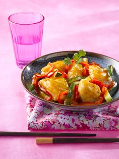 Poêlée de cabillaud et légumes à la thaï