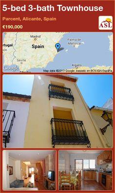 5-bed 3-bath Townhouse in Parcent, Alicante, Spain ►€190,000 #PropertyForSaleInSpain