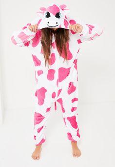 Missguided - Pink Cow Onesie