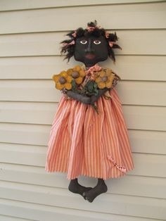 Pattern epattern Primitive Folk Art Doll Pattern by Raggedyrhondas, $7.00