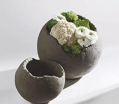 Ceramic hemisphere wth flowers ~ Tom De Houwer | DESIGNS SERAX