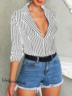 1ec40e656f127b Black Red Striped Blouse Womens Tops And Blouses Long Sleeves Women Blusas  Mujer De Moda 2018 Autumn V Neck Blouse Shirt in 2019 | Products | Shirt  blouses, ...