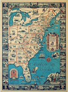 1929 Eastern States Historical Map More