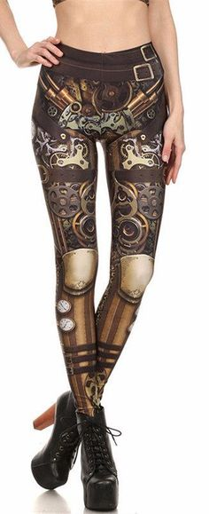 Steampunk/Cyberpunk/Viking Leggings