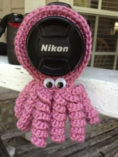 Octopus lens buddy  crochet by SisasStitches on Etsy, $8.00