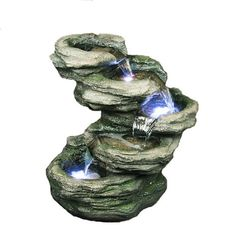 HiLine Gift Ltd Rocks 4Level Fountain with LED Light *** For more information, visit image link. Note: It's an affiliate link to Amazon