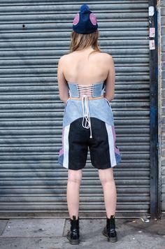 ELINA PRIHA | MARJA BRA TOP & KURRI SHORTS Bra Tops, Shorts, Denim, Model, Fashion, Moda, Fashion Styles, Scale Model, Jeans