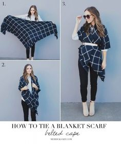 Impressive Ways To Wear Blanket Scarf How To Wear Blanket Scarves What I Wore Dress Like Me Hello. Impressive Ways To Wear Blanket Scarf 4 Ways To Wear A Blanket Scarf She Uncovered. Impressive Ways To Wear Blanket Scarf How… Continue Reading → How To Wear Belts, Ways To Wear A Scarf, How To Wear Scarves, Big Scarves, Wearing Scarves, Winter Scarves, Mode Outfits, Fall Outfits, Fashion Outfits