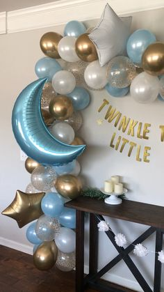Balloon Arch Diy Discover Twinkle Little Star Balloon Garland Decoration DIY Balloon Arch Blue Moon Etsy Twinkle Twinkle boy baby shower theme balloon backdrops Baby Shower Decorations For Boys, Boy Baby Shower Themes, Baby Shower Balloons, Baby Shower Fun, Baby Shower Centerpieces, Shower Party, Baby Shower Parties, Baby Balloon, Baby Shower Garland
