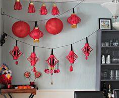 這些燈籠是非常靈活的工藝,因為你可以做有關設計什麼。你只要按照步驟做會很簡單。紅燈籠也很漂亮。