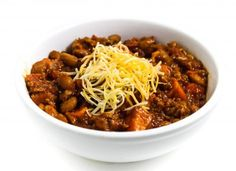 I love to make a big pot of chili this time of year. This one smells amazing while slow cooking in your crock-pot. The sweet potatoes add a fabulous flavor and add a wonderfully healthy addition to Chili Recipes, Raw Food Recipes, Veggie Recipes, Mexican Food Recipes, Healthy Recipes, Veggie Food, Drink Recipes, Healthy Meals, Group Recipes