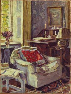 """Duncan Grant (1885-1978) """"Artist's Study at Charleston"""", 1967 ~ via The Metropolitan Museum of Art by reba"""