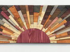 "Wood wall art - ""Edge of the Day 36 x 12 wooden wall art textured wood art home decor wall hanging by stainsandgrains modern sunrise Wood Wall Art Decor, Wood Artwork, Wooden Wall Art, Wooden Walls, Wall Wood, Wooden Wall Panels, Modern Metal Wall Art, Reclaimed Wood Art, Diy Wood"