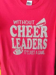 Custom Cheerleader spirit glitter fitted tshirt by JustStuffOhio, $20.00
