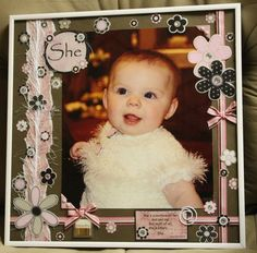 She - Posted in Scrapbook.com...This is my granddaughter Aubree on her Baptism day.