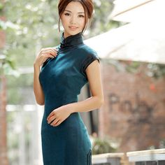 Trims Chinese Gauze Long Gown Blue by AnnularRings on Etsy b8fbe868bbad