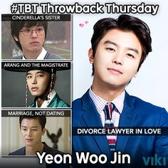 What's your favorite Yeon Woo Jin role? Catch him in new #kdrama Divorce Lawyer in Love. #TBT