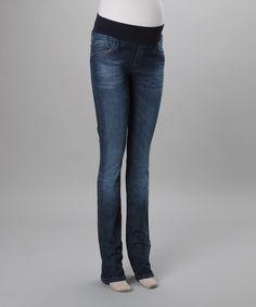 Medium Wash Mid-Belly Maternity Skinny Jeans