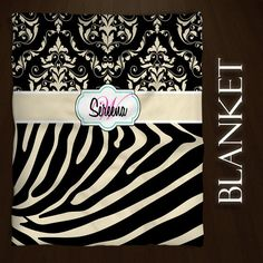 Black and Tan Zebra Print Blanket Fuzzy by EloquentInnovations