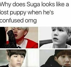 Suga is so cute when he's confused ;;;