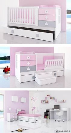 Super Baby Cribs For Girls Kid Beds Ideas - Modern Baby Boy Rooms, Baby Bedroom, Baby Room Decor, Baby Cribs, Girls Bedroom, Beds For Kids Girls, Kid Beds, Nursery Furniture, Kids Furniture