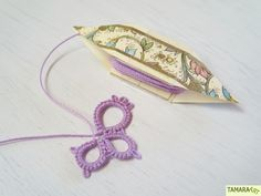 Tamara ART: Butterfly and DIY frivolité/tatting shuttle (free pattern and tutorial)