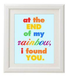 Printable Nursery Art- Rainbow Baby Boy on Etsy, $8.00