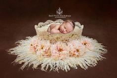 Newborn Digital background/backdrop. Floral crochet lace