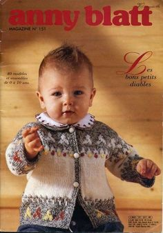 Patterns in Documents as Anny Blatt Bebe Issue 151 Baby Cardigan Knitting Pattern Free, Baby Sweater Patterns, Baby Knitting Patterns, Knitting Stitches, Baby Patterns, Knitting Magazine, Crochet Magazine, Knitting Books, Knitting For Kids