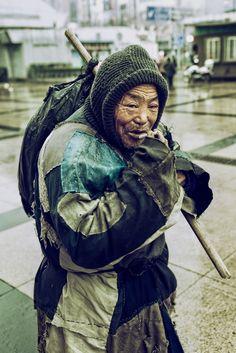 Homeless in Shanghai, China:
