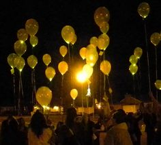 Lighted balloon activity for Arise and Shine Forth @JoEllen Peterson Girls Camp idea?