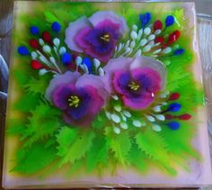 pansies flowers art jelly