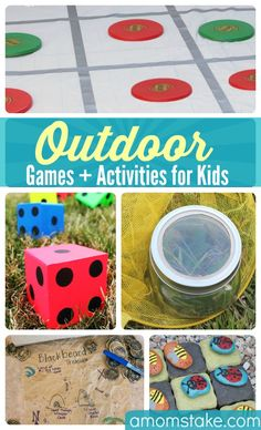 DIY outdoor games, kids activities and cheap ideas for keeping toddlers to teens entertained and having fun all summer long with friends!