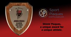 Defend the Title. How cool would a wall look with a bunch of these shield plaques on display? Perhaps a bit of a threat to your competitors too. #SportsDefense #ShieldPlaques Trophy Plaques, Award Plaques, Champions Trophy, Sports Awards, Schools First, School Colors, Text You, Banquet, Things To Come