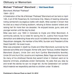 """When Your Obituary Advertises that Your Funeral Eulogy Will Be Rated """"R"""", You Probably Lived an Epic Life"""