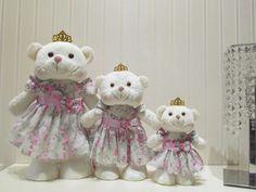 Concepção de Kit 3 Ursas Princesas em PÃ P M e G e preço http://ift.tt/2lNN1m7