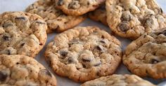 Soft and chewy cookies packed with chips, and taken beyond the standard chocolate chip cookie with the addition of nutty tasting oats.