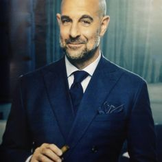 Stanley Tucci beyond handsome. Sharp Dressed Man, Well Dressed, Beautiful Men, Beautiful People, Stanley Tucci, Going Bald, Best Supporting Actor, Gentleman Style, American Actors